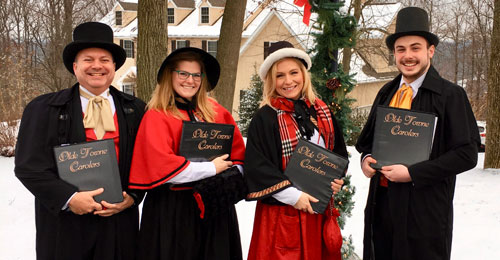 Victorian Christmas carolers for hire